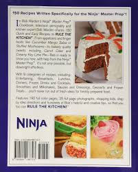 bob warden u0027s ninja master prep cookbook bob warden 9780984188703