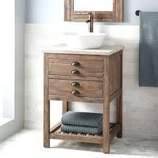 Bathroom Vanity Reclaimed Wood Extraordinary Vessel Sink Vanities In Vanity Reclaimed Wood Gray