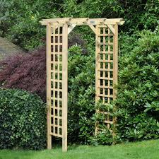 m u0026m coppice wooden trellis garden arch internet gardener