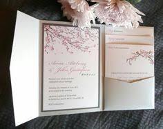 cherry blossom wedding invitations japanese cherry blossom wedding invitation pockets by copper ink