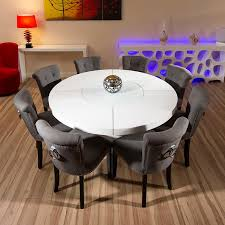 gray round dining table set 53 round dining table set for 8 66in rosewood ming design round