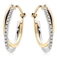 hoop diamond earrings gold diamond hoop earrings diamondstud