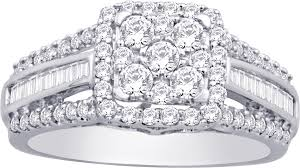 sterling engagement rings images 925 sterling silver 1 2 ct tw diamond engagement ring unclaimed png