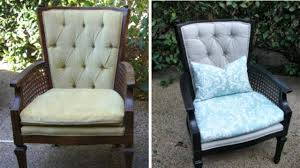 Recovering An Armchair How To Reupholster A Tufted Wing Chair Youtube