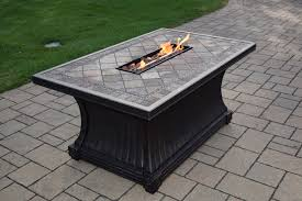 Gas Firepit Tables Oakland Living 52 X 32 X 24 Inch Rectangular Slate Topped Vienna