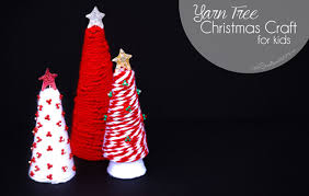 yarn tree christmas craft for kids onecreativemommy com