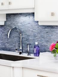 kitchen design ideas decorative blue glass tile backsplash on