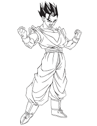 facile dragon ball gohan mystique coloriage dragon ball z
