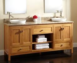 magnificent bamboo bathroom vanity sink mounted on the