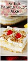 no bake banana split cake the kitchen is my playground