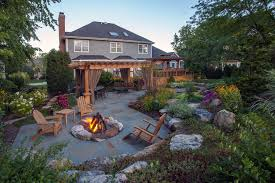 wood burning fire pit patio traditional with adirondack chairs