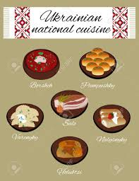 ukrainian national cuisine folk traditions of ukraine royalty free