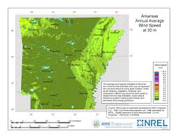 Arkansas vegetaion images Windexchange arkansas 30 meter residential scale wind resource map jpg