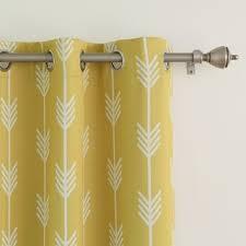 arrow room darkening grommet curtain panel pair overstock