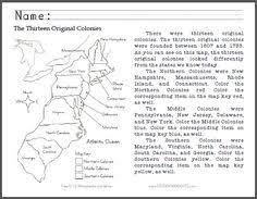 13 colonies map worksheet printable best of third grade