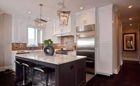 White Kitchen Brick Tiles - bottom freezer refrigerator white granite countertop luxury