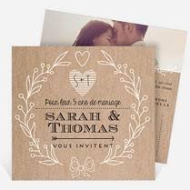 invitation anniversaire mariage invitations anniversaire de mariage sur monfairepart