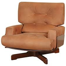 Swivel Club Chairs Leather by Molded Rosewood And Leather Swivel Chair By M Taro For Cinova At
