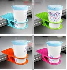 Table Cup Holder Buy Set Of 3 Drink Coffee Tea Cup Holder Clip Desk Table Mug Glass