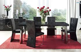 Cheap Dining Room Table Sets Delectable 10 Red Black Dining Room Ideas Inspiration Of Red And
