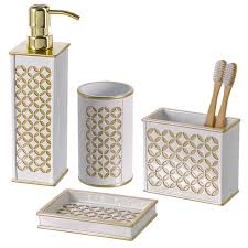 bathroom accessories amazon com diamond lattice 4pc bath accessory sets decorative