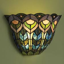 Glass Wall Sconce Wireless Wall Sconce Peacock At Signals Hp1692