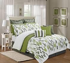 Grey And Green Kitchen Amazon Com 12 Pieces Luxury Sage Green Grey And White Vine Allen