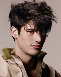 hairstyle for men with styled over one eye