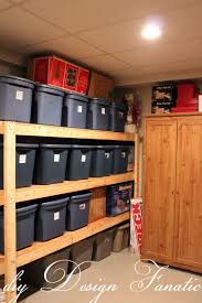 diy storage shelves basement decorating ideas photo in diy storage