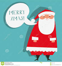 santa claus wishing merry stock vector image 34814332