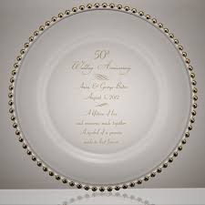 personalized anniversary plates personalized glass floral 50th anniversary plate with gold