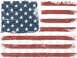 Smerican Flag American Flag Grunge Background Royalty Free Vector Clip Art Image