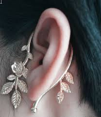 one ear earring unique leaves cuff earrings ear wrap wholesale yiwuproducts
