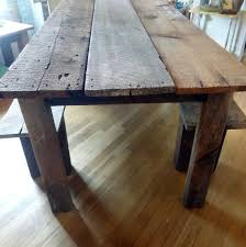 reclaimed wood farmhouse table rustic farmhouse reclaimed barn wood table and by thepinktoolbox for