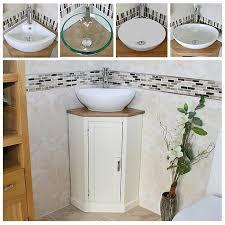Cloakroom Corner Vanity Unit Cloakroom Bathroom Vanity Unit Oak Cabinet Wash Stand Marble Stone