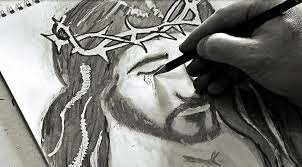 jesus bloody tears awesome pencil sketch youtube