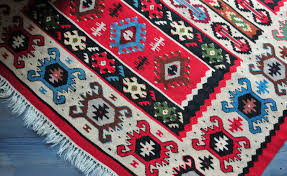 Red Tribal Rug Pirot Kilim Rug Vintage Hand Woven Wool Rug Tribal Rug Turkish