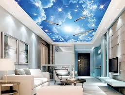 tv a soffitto cielo gabbiano soffitto soffitto 3d personalizzato 3d mural tv