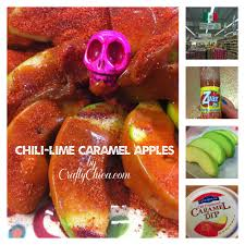 chile lime caramel apples crafty chica