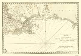 Map Of Louisiana by Old Travel Map Florida And Louisiana Gulf Coast 1778