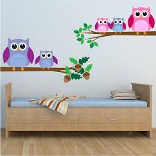 childrens bird wall stickers ebay full colour owls birds wall art sticker decal mural transfer children bedroom