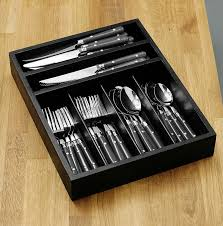 Luxury Cutlery by Premier Housewares Cafe Cutlery Set With Tray Stainless Steel