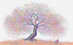 best friends the rainbow tree of dreams painting by nick
