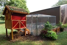 Building Backyard Chicken Coop Cool Coops The Garden Roof Coop Community Chickens