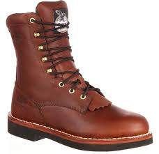 mens brown leather motorcycle boots men u0027s farm u0026 ranch brown lacer work boots georgia boot