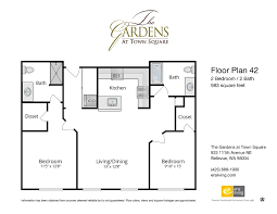 square floor plans floor plans features the gardens at town square bellevue wa