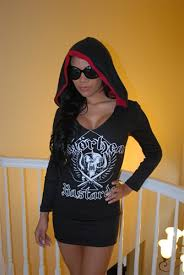 motorhead hoodie mini dress