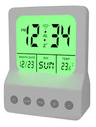 Alarm Clock With Light On Ceiling Meridian Electric 10260 Digital Alarm Clock With Led Light