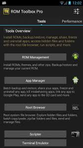 backup apk without root rom toolbox lite apk for android