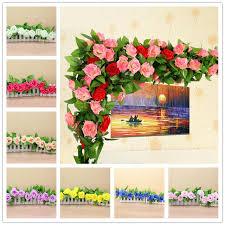 home flower decoration artificial flowers rose silk flowers vine wedding decoration diy